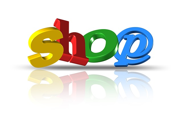 nápis shop